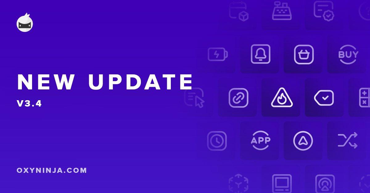 OxyNinja Update 3.4 – Beautiful Icon Packs for Core & WooCore